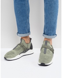 Chaussures de sport en daim olive Cortica