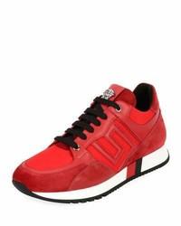 Chaussures de sport en daim rouges
