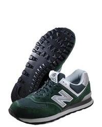 Chaussures de sport en daim vert foncé