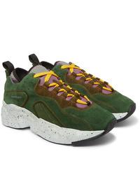 Chaussures de sport en daim vert foncé Acne Studios