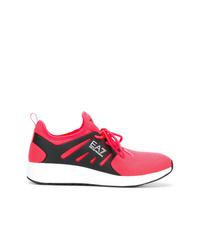 Chaussures de sport fuchsia Ea7 Emporio Armani