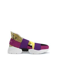 Chaussures de sport fuchsia Emilio Pucci