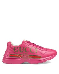 Chaussures de sport fuchsia Gucci