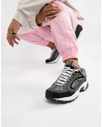 Chaussures de sport gris foncé Skechers