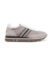 Chaussures de sport grises Brunello Cucinelli