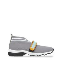 Chaussures de sport grises Fendi