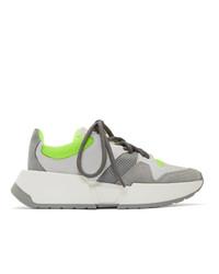 Chaussures de sport grises MM6 MAISON MARGIELA