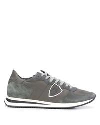 Chaussures de sport grises Philippe Model Paris
