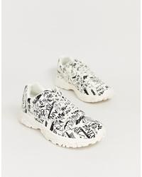 Chaussures de sport imprimées blanches ASOS DESIGN