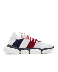 Chaussures de sport imprimées blanches Moncler