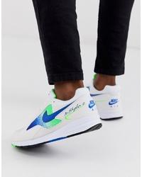 Chaussures de sport imprimées blanches Nike