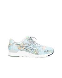Chaussures de sport imprimées bleu clair Asics
