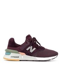 Chaussures de sport imprimées bordeaux New Balance