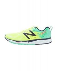 Chaussures de sport imprimées chartreuses New Balance
