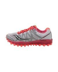 Chaussures de sport imprimées grises Saucony