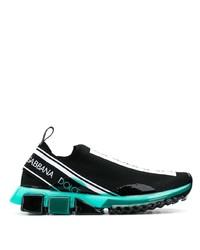 Chaussures de sport imprimées noires Dolce & Gabbana