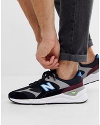 Chaussures de sport imprimées noires New Balance