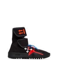 Chaussures de sport imprimées noires Off-White