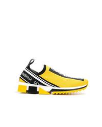 Chaussures de sport jaunes Dolce & Gabbana