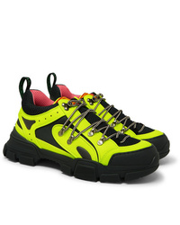 Chaussures de sport jaunes Gucci