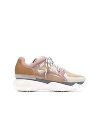 Chaussures de sport marron clair Fendi