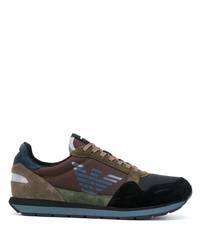 Chaussures de sport marron foncé Emporio Armani