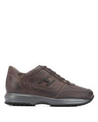 Chaussures de sport marron foncé Hogan