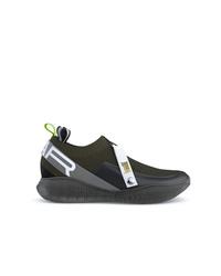 Chaussures de sport marron foncé Swear