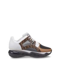 Chaussures de sport marron Fendi