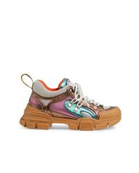 Chaussures de sport marron Gucci