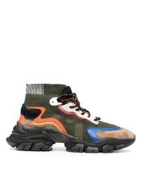 Chaussures de sport multicolores Moncler