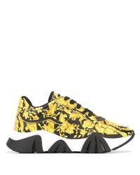 Chaussures de sport noir et doré Versace