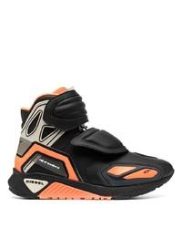 Chaussures de sport noir et orange Diesel