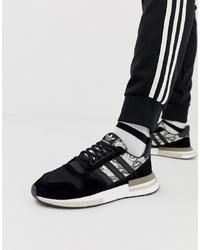 Chaussures de sport noires et blanches adidas Originals