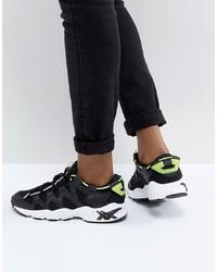 Chaussures de sport noires et blanches Asics