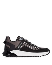 Chaussures de sport noires et blanches Balmain
