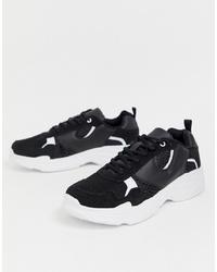Chaussures de sport noires et blanches Brave Soul