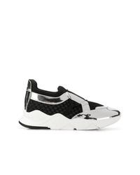 Chaussures de sport noires et blanches Clergerie