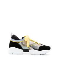 Chaussures de sport noires et blanches Emilio Pucci