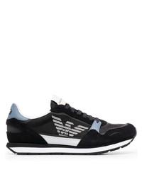 Chaussures de sport noires et blanches Emporio Armani