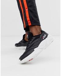 Chaussures de sport noires et blanches Fila