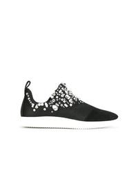 Chaussures de sport noires et blanches Giuseppe Zanotti Design