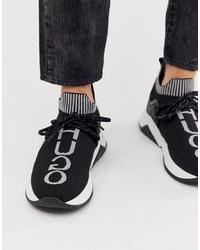 Chaussures de sport noires et blanches Hugo