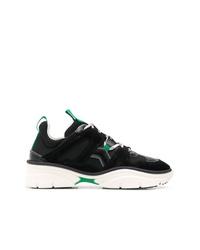 Chaussures de sport noires et blanches Isabel Marant