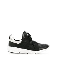 Chaussures de sport noires et blanches Karl Lagerfeld
