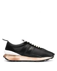 Chaussures de sport noires et blanches Lanvin