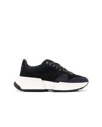 Chaussures de sport noires et blanches MM6 MAISON MARGIELA
