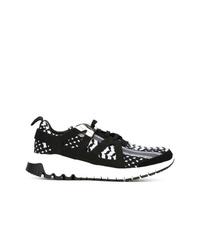 Chaussures de sport noires et blanches Neil Barrett