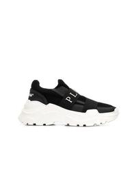 Chaussures de sport noires et blanches Philipp Plein