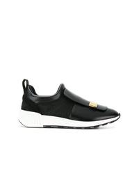 Chaussures de sport noires et blanches Sergio Rossi